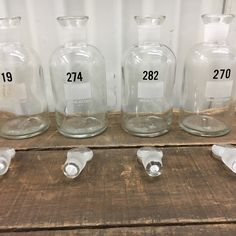 There's chemistry happening in our shop! Nothing like the asterisk of vintage glass apothecary bottles - made in the USA