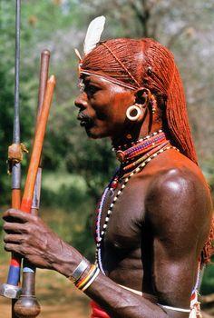 Samburu Warrior   Photo by Michele Burgess with Pin-It-Button on FineArtAmerica