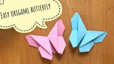 Easy origami cute butterfly only with paper Origami Butterfly Easy, Cute Butterfly, Origami Easy, Oragami Butterflies, Christmas Toys, Diy Christmas Gifts, Fun Crafts, Paper Crafts, Origami Gifts