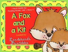 """A FOX AND A KIT """"I Have Who Has Game"""" from Ms. Lendahand's Teacher Pack...All of the Unit One """"I Have Who Has Games"""" are to follow.Hugs!Mrs. Lendahand:)"""