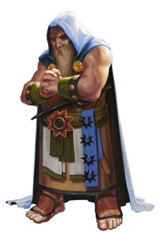 Dwarvish fighter...thought it was a cleric at first, but then I saw the edged weapon.