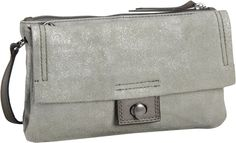 Marc O´Polo Crossbody Bag M Metallic Cow Suede Light Taupe - Abendtasche   Clutch
