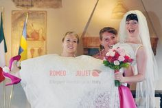 Hannah, one of our joyful brides in Verona