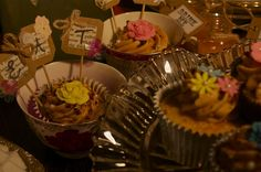 Eat me, some more cupcakes in tea cups