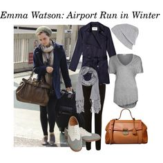 """""""Emma Watson: Airport Style"""" by vogueflowers on Polyvore"""