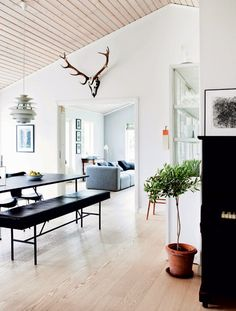 This family home in Denmark is bright and open with a mix of simple modern furnishings with a few more traditional elements thrown. In a...