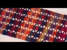 tunisian scarf - YouTube