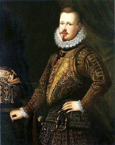 Portrait de Vincenzo I Gonzaga, duc de Mantoue 1587 Giovanni (ou Jean) Bahuet