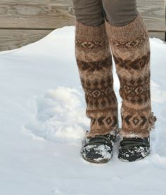 Felted Alpaca Leg Warmers- awesome idea to upcycle the arms of any really cute fairisle sweater....