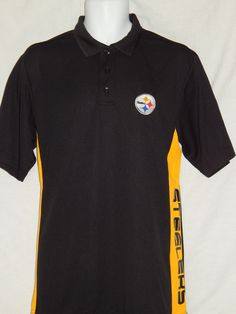 d63d08bb Pittsburgh Steelers Polo Golf Shirt Mens Sizes TX3 Cool Wicking NFL Team  Apparel
