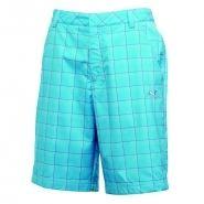Puma Plaid Tech Golf Shorts Blue Atoll