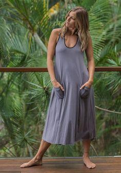 Dita dress dove  Organic Cotton, 100% Australian made, ethical, sustainable fashion