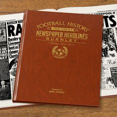 This Personalised Burnley History Book is the perfect gift for any fan of the club. The book kicks off with the earliest newspaper reports, covering their most memorable games and star players, leading right up until last season. See below for why the History of Burnley FC Book is the ultimate piece of memorabilia that will instantly become a treasured keepsake.