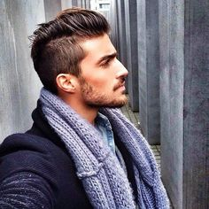 men's hair style, and that scruff!
