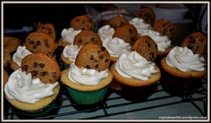 CHOCOLATE CHIP COOKIE DOUGH CUPCAKES WITH COOKIE DOUGH BUTTERCREAM