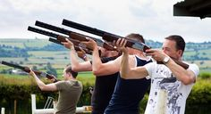 Sporting clay pigeon shooting Bachelor Party ❤'d by wedfunapps.com