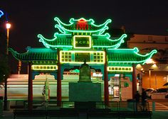 Chinatown, downtown Los Angeles. East Gate on Broadway, built in 1938.