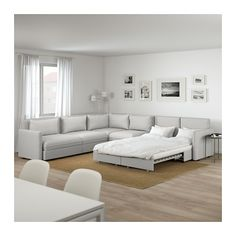 VALLENTUNA Sleeper sectional, 5-seat corner - Orrsta light gray - IKEA