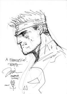 jim lee - punisher / catwoman sketch Comic Art