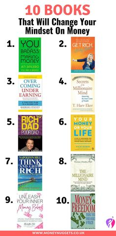 Money Mind-set: 10 Books that will simply change your mind-set about money forever. finance 10 Books That Will Change the Way You Think About Money Best Books To Read, Good Books, Book Club Books, Book Lists, Self Development Books, Finance Books, Finance Tips, Budget Planer, Budgeting Finances