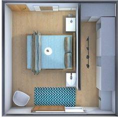 vestidor detras de la cama - #decoracion #homedecor #muebles