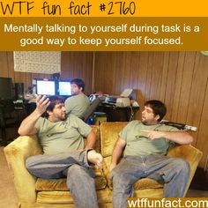 Mentally talking to yourself - WTF fun facts