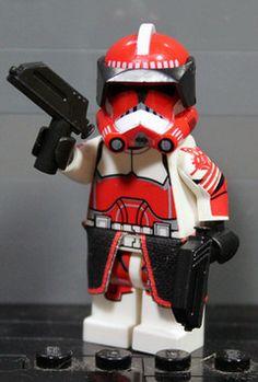 Clone Army Customs | P2 Commander Fox Lego Custom Clones, Lego Clones, Custom Lego, Lego Clone Army, Lego Army, Star Wars Clone Wars, Star Wars Art, Lego Star Wars, Lego Minifigs