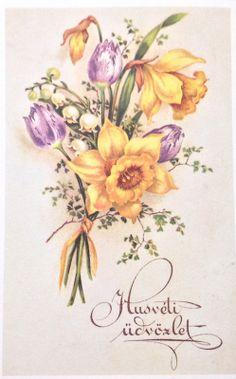 Hungarian Vintage Easter Cards easter_card_038
