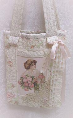 Pink Rose Bag-Pink Rose Bag  Rose Bag  Book Bag