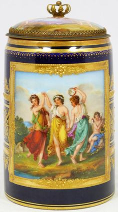 ROYAL VIENNA HAND PAINTED GRACES STEIN SIGNED - EliteAuction.com