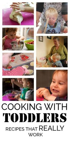 Cooking with Toddlers is possible and you can do it - here's recipes that you and your toddler can really cook and some tips for making it happen. Cooking with Kids