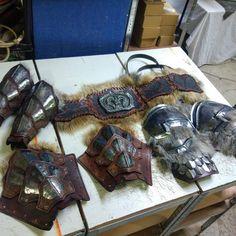 Norse armors. Larp Armor, Medieval Armor, Undead Knight, Noah, Dwarf, Warriors, Renaissance, Weapons, Video Games