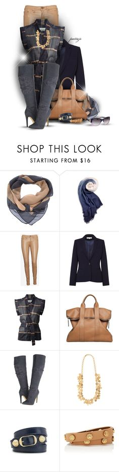 """""""Glad it's Plaid"""" by rockreborn ❤ liked on Polyvore featuring MDGRAPHY, Sperry, rag & bone/JEAN, Damsel in a Dress, Étoile Isabel Marant, 3.1 Phillip Lim, Michael Antonio, Zoja, Balenciaga and Tory Burch"""