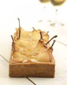 Pear Tart with an almond-amaretto filling // Tatte's Cookies