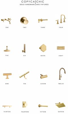 best=Home Trends Gold Hardware and Fixtures copycatchic , Discover your dream prom dress. Brass Bathroom Fixtures, Bathroom Hardware, Bathroom Faucets, Kitchen Fixtures, Bathrooms, Kitchen With Gold Hardware, Gold Kitchen Faucet, Gold Cabinet Hardware, Bathroom Sconce Lighting