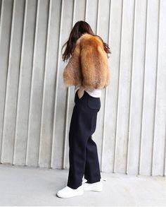style my way #fur #fake #coat