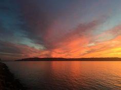 Spectacular sunset. #HudsonRiver #HudsonValley #IrvingtonNY #Westchester @lohud #nofilter