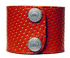 """2"""" Red Perforated Cuff"""