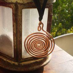 Artisan Spiral Copper Handmade Hammered Pendant Necklace #Unbranded #Pendant