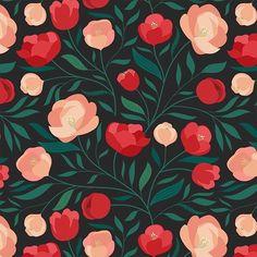 Japanese Quince, my latest pattern available on @patternbank → patternbank.com/carlywatts #newonpatternbank #artlicensing #pattern #surfacedesign #surfacepattern #floral #botanical #japanesequince #chaenomeles 📷: @carlywattsart