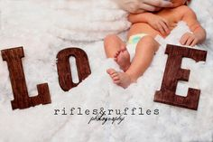 DIY Photo Prop: Staining letters the easy way.
