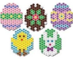 Peeler bead Easter eggs