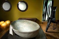 Bagno cocciopesto e marmo   La Maiolica