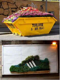 guerilla gardening; these were part of an ad campaign by Adidas?