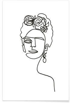 frida kahlo paintings Frida Kahlo als Premium Poster von Julia Hariri Art Sketches, Art Drawings, Drawings About Love, Fridah Kahlo, Kahlo Paintings, Artwork Paintings, Abstract Paintings, Encaustic Painting, Ink Painting