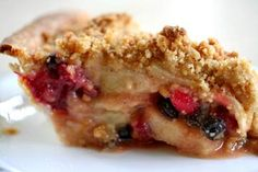Apple Cranberry Currant Crumble Pie. Wow.