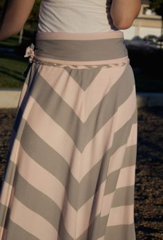 Chevron maxi skirt tutorial