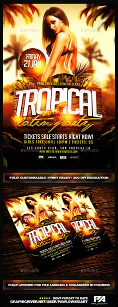 Urban Fresh Party  Psd Flyer Template  Psd Flyer Templates