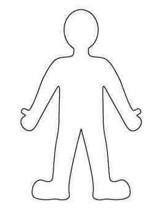 Color the person to look like YOU Coloring Page - Twisty Noodle Paper Doll Template, Stencil Templates, Templates Printable Free, Printables, Stencils, Person Template, Body Template, Person Outline, Body Outline