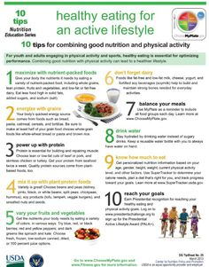 Eating healthy meals with an active lifestyle